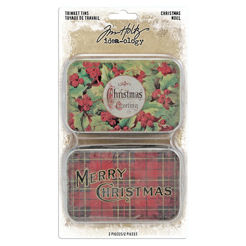 Idea-ology - Tim Holtz - Christmas - Trinket Tins