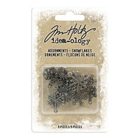 Idea-ology - Tim Holtz - Christmas - Adornments - Snowflakes