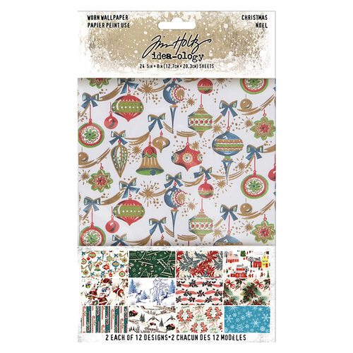 Idea-ology - Tim Holtz - Christmas - Worn Wallpaper