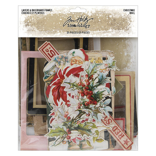 Idea-ology - Tim Holtz - Christmas - Layers And Baseboard Frames