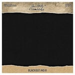 Idea-ology - Tim Holtz - 8 x 8 Paper Pad - Kraft-Stock - Blackout