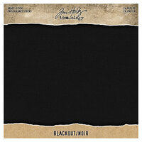 Idea-ology - Tim Holtz - 8 x 8 Paper Pad - Kraft-Stock - Blackout