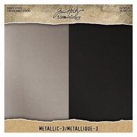 Idea-ology - Tim Holtz - 8 x 8 Paper Pad - Kraft-Stock - Metallic 3