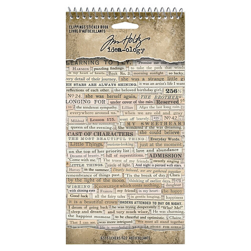 Idea-ology - Tim Holtz - Clippings Cardstock Stickers Book