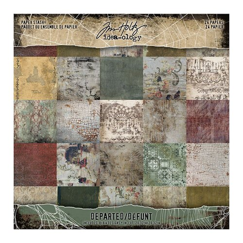 Idea-ology - Tim Holtz - 8 x 8 Mini Paper Stash - Departed