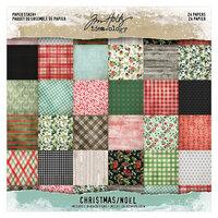 Idea-ology - Tim Holtz - 8 x 8 Mini Paper Stash - Christmas