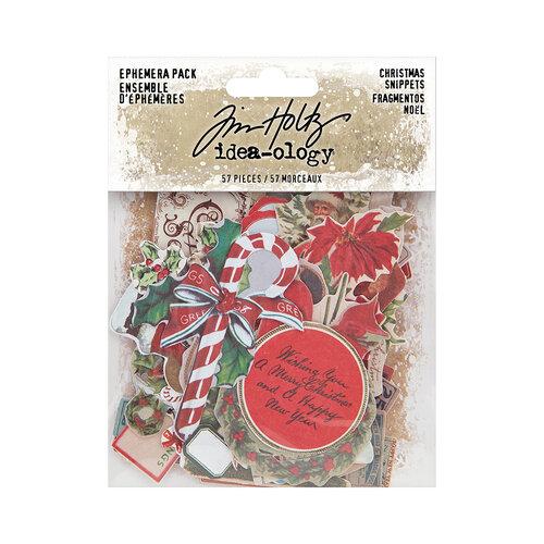 Idea-ology - Tim Holtz - Christmas - Snippets Ephemera