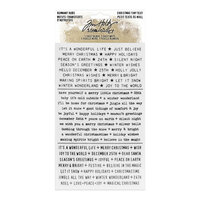 Idea-ology - Tim Holtz - Christmas - Remnant Rubs - Tiny Text