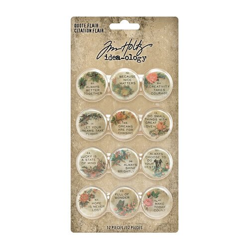 Idea-ology - Tim Holtz - Quote Flair