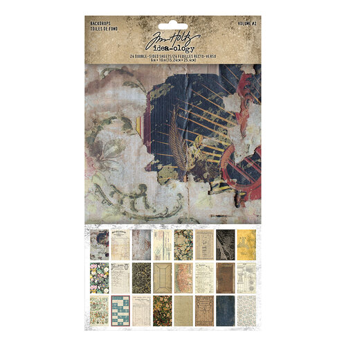 Idea-ology - Tim Holtz - 6 x 10 Backdrops - Volume Two
