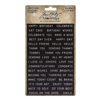 Idea-ology - Tim Holtz - Label Stickers - Sentiments