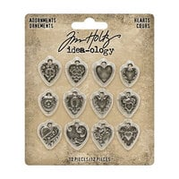 Idea-ology - Tim Holtz - Adornments - Hearts