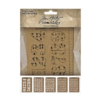 Idea-ology - Tim Holtz - Stencil Cards