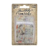 Idea-ology - Tim Holtz - Linen Tape - Floral