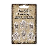Idea-ology - Tim Holtz - Halloween - Adornments - Skulls and Spiders