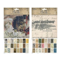 Idea-ology - Tim Holtz - 6 x 10 Backdrops - Volume One and Two Bundle
