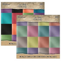 Idea-ology - Tim Holtz - 8 x 8 Kraft Stock - Metallic - Confections and Jewels Bundle