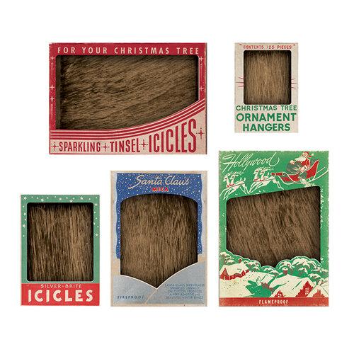 Advantus - Tim Holtz - Idea-ology Collection - Vignette Box Complete Kit - Vintage Christmas