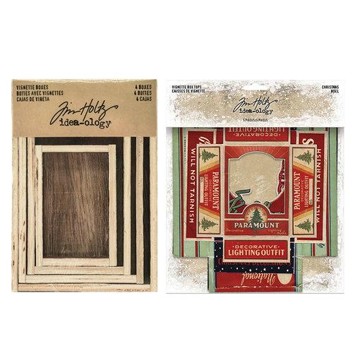 Idea-ology - Tim Holtz - Vignette Box Complete Kit - Christmas