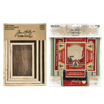 Advantus - Tim Holtz - Idea-ology Collection - Vignette Box Complete Kit - Christmas
