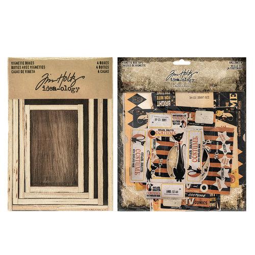 Idea-ology - Tim Holtz - Vignette Box Complete Kit - Halloween