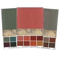 Idea-ology - Tim Holtz - 6 x 9 Kraft Stock - Warm, Cool and Neutral Bundle