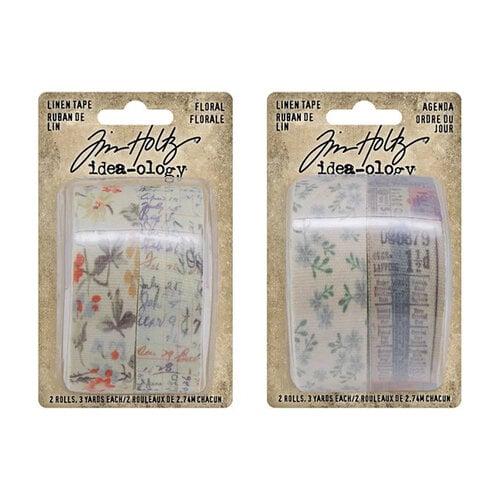 Idea-ology - Tim Holtz - Linen Tape - Floral and Agenda Bundle