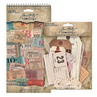 Idea-ology - Tim Holtz - Salvaged Tags and Ticket Book Bundle