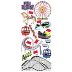 Creative Imaginations Stickers - Amusement Park Collection - Rides