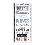 Creative Imaginations - Art Warehouse - Beach Collection by Danelle Johnson - Clear Jumbo Sticker Sheet - Beach