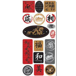 Creative Imaginations - Asian Collection - 5x12 Sticker Sheet