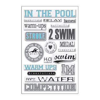 Creative Imaginations - Art Warehouse - Swim Collection by Danelle Johnson - Epoxy Stickers - Swim