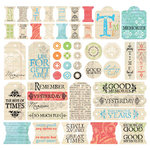 Creative Imaginations 12x12 Sticker Sheet - Narratives by Karen Russell - Antique Memories, CLEARANCE