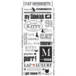 Creative Imaginations - Art Warehouse by Danelle Johnson - Stickers - Cat, CLEARANCE