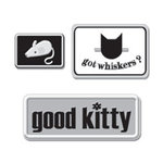 Creative Imaginations - Art Warehouse by Danelle Johnson - Metal Signs - Cat, CLEARANCE