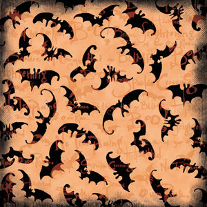 Creative Imaginations - Halloween by Marah Johnson - Paper - Bats Xing, CLEARANCE