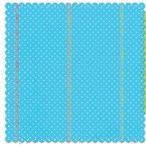 Creative Imaginations - Narratives by Karen Russell - Scalloped Paper - Blue Polka Dot, CLEARANCE