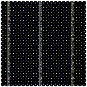 Creative Imaginations - Narratives by Karen Russell - Scalloped Paper - Black Polka Dot