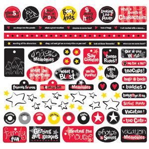 Creative Imaginations - Magic Collection - 12x12 Sticker Sheets - Magic Phrases