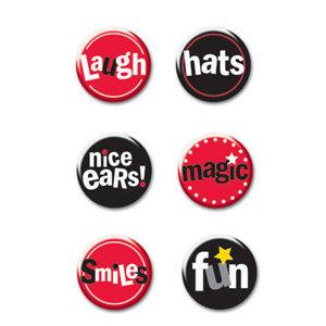 Creative Imaginations - Magic Collection - Jumbo Round Brads - Magic Phrase