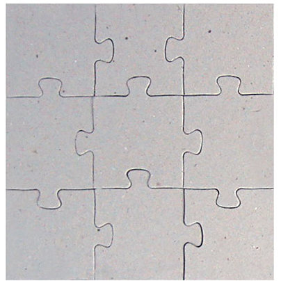 Creative Imaginations Bare Elements Home D Cor 12x12 Puzzle Sherry 9 Piece