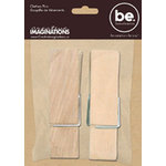 Creative Imaginations - Bare Elements - Home Decor - Diane - Clothes Pins - 2pack - 4.75 inches