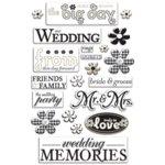 Creative Imaginations - Art Warehouse by Danelle Johnson - Wedding - Pearl Epoxy Stickers, BRAND NEW