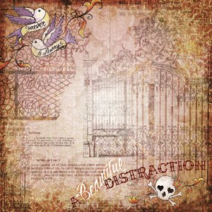 Creative Imaginations - Love Struck by Marah Johnson - Tattoo Collection - Paper - Distraction