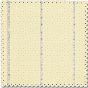 Creative Imaginations - Narratives by Karen Russell - Scalloped Die Cut Paper - Blue Bell Boy Collection - Blue Polka Dot, CLEARANCE
