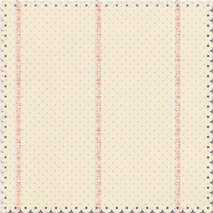 Creative Imaginations - Narratives by Karen Russell - Scalloped Die Cut Paper - Sweet Pea Girl Collection - Cream and Pink Polka Dot, BRAND NEW