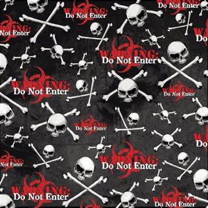 Creative Imaginations - Skull and Crossbones Collection - Paper - Warning, CLEARANCE