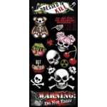 Creative Imaginations - Skull and Crossbones Collection - Large Chipboard Stickers - Skull and Crossbones
