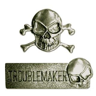 Creative Imaginations - Skull and Crossbones Collection - Metal Embellishments - Skull and Crossbones