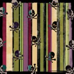 Creative Imaginations - Caution Boy Collection - Paper - Skulls and Stripes